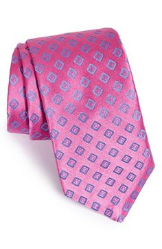 Men's Ted Baker London 'Simple Squares' Silk Tie