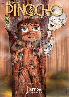 """Espectacle musical infantil """"El pequeño Pinocho"""", al Teatre Condal (Barcelona). Des del 6 de desembre 2015 fins al 31 de gener 2016"""