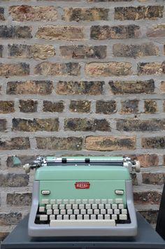 Vintage Mint Green & Grey Royal Model FP Typewriter by sugarSCOUT