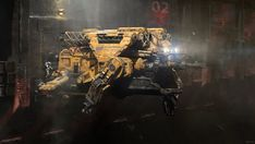 Asteroid mining vessel, Andrew 'Zelfit' Mykhailov on ArtStation at https://www.artstation.com/artwork/6l305