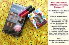 6 Month Blogversary Giveaway Reminder | Kohl and Stilettos