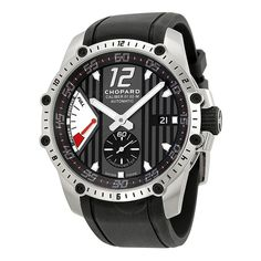 ca440360c84f Chopard classic racing superfast automatic black dial and black rubber  strap men watch. Luxury Watches