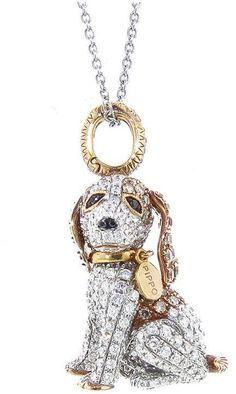 Pippo Perez Brown Diamond Puppy Pendant - White Gold