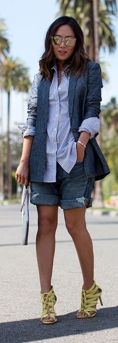 Boyfriend Blazer Outfit Idea by Song Of style
