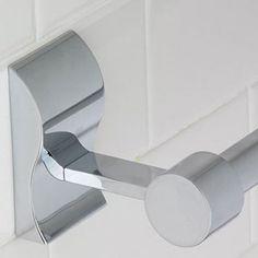 Wave Brushed Nickel 24-inch Towel Bar