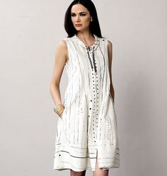 Cute new summer dress pattern from Vogue. A great alternative to shorts in the summer.