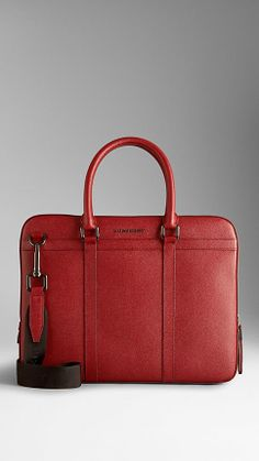London Leather Briefcase // Burberry