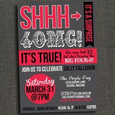 Surprise party invite