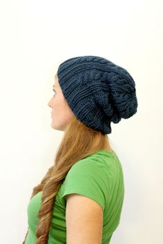 ELIZABETH+//+hat+cable+rib+chunky+toque+knitting+by+janerichmond,+$4.95