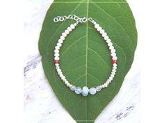 Náramek s Akvamarínem, Rubínem, MĚSÍČNÍM KÁMENEM & Růženínem Summer Bracelets, Linux, Tassel Necklace, Green, Jewelry, Jewlery, Jewerly, Schmuck, Jewels