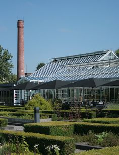 Restaurant De Kas, Amsterdam, a re-purposed greenhouse with his own herb garden and nursery.