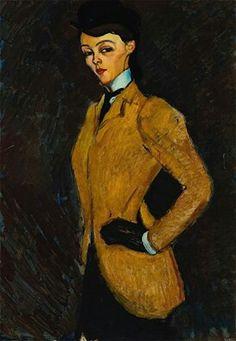Amedeo Modigliani - L'Amazone - 1909
