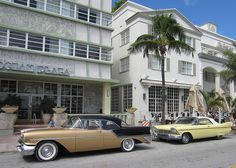 Art Deco District - Classic Oldsmobile And Plymouth | Flickr - Photo Sharing!