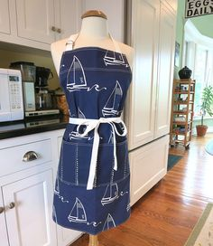 Nautical apronladies apronswomen/'s apronsaprons for womensailboat apronslighthouse apronsMother/'s day giftsteen aprons