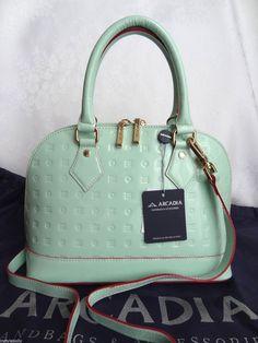 Arcadia Italian Leather Handbag/Tote ~ Cream/Natural ~ Satchel ...