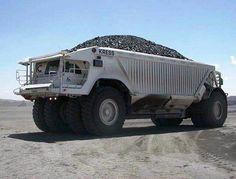 Kress haul truck loaded with coal