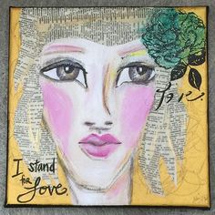 I stand for love. I always have. And I'm finally not apologizing about it.  #Seizethedazzlestudio #art #artist #artiste #arteveryday #kunst #arte #arteverydamnday #faces #multimedia #mixedmedia #eyes #love