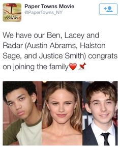 Casting news for Paper Towns.