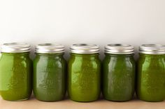 Sweet and Green Juice: A perfect balance of sweet and savory: apple, pear, spinach, kale, celery, and cucumber make up the ingredients in this recipe for sweet and green juice.
