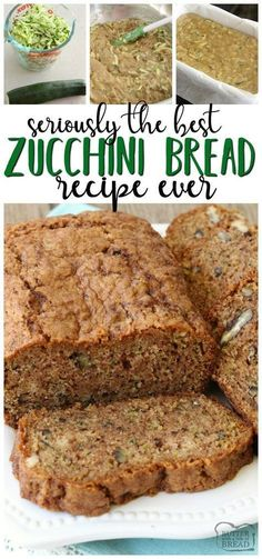Zucchini bread recipe that truly is the best ever! Easy to make & you'll lov… Zucchini bread recipe that truly is the best ever! Easy to make & you'll love the blend of spices used. It's the perfect zucchini bread recipe! Zucchini Bread Recipe Butter, Zucchini Bread Muffins, Butter Recipe, Best Zucchini Recipes, Classic Zucchini Bread Recipe, Cinnamon Zucchini Bread, Low Carb Zucchini Bread, Recipe Recipe, Health Foods
