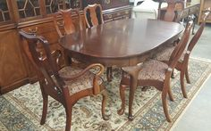 Henkel Harris Dining Table With 6 Chairs Marva S Place Specializes In Offering The Highest Quality Brands New And Used Furniture Home Decor Design