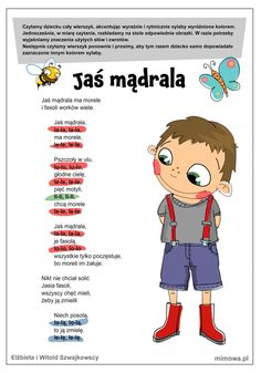 Wierszyk Jaś Mądrala Dr Seuss Coloring Pages, Minion Coloring Pages, Cute Coloring Pages, Infant Activities, Activities For Kids, Learn Polish, Abc Centers, Polish Language, Fun Games For Kids
