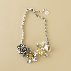 Mixed metals #flower #necklace