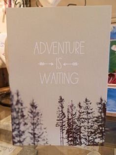 Adventure is Waiting #travel #love card £2.50 from Harriet and Dee 01614382500