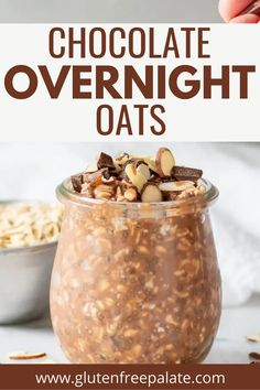 You'll thank yourself in the morning for making this wholesome, healthy, and delicious Chocolate Overnight Oats recipe using oats, milk, and rich cocoa. Gluten Free Dinner, Gluten Free Desserts, Gf Recipes, Gluten Free Recipes, Chocolate Overnight Oats, Delicious Chocolate, Recipe Using, Cocoa, Brunch
