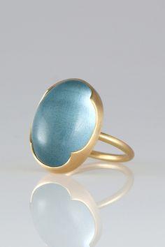 Gabriella Kiss large oval aquamarine
