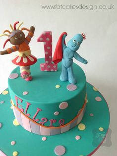 In the night garden cake. Iggle Piggle and Upsy Daisy. Garden Birthday Cake, First Birthday Cakes, 2nd Birthday, Birthday Ideas, Garden Cakes, Night Garden, Big Cakes, Sugar Cake, Character Cakes