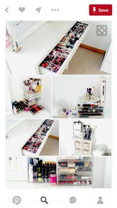 IKEA Malm Dressing Table Makeup and Beauty Storage Ideas Makeup Storage Inspiration Muji Acrylic Drawers My Dressing Table and Makeup Storage ...  sc 1 st  Pinterest & IKEA Malm Dressing Table Makeup and Beauty Storage Ideas Makeup ...