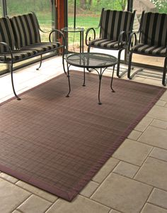 Accessories & Furniture,Picturesque 4x6 Rugs Design With Espresso Brown Bamboo Color Material And Comfortable Patio Chair,Elegant 4 X 4 Rugs Design To Enchant Your Home