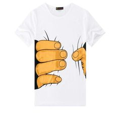 a060372f Cool Unique Men Funny Cotton Big Hand Grab Waist Print Short  Sleeveeticdress. 3d T ShirtsCool ...