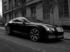 Bentley GTS. Love those wheels. #car #black