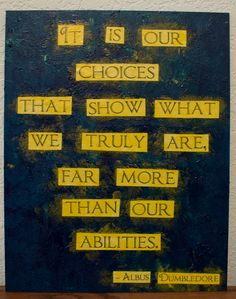 """Harry Potter quote painting 9.5"""" x 12"""" - Choices. $20.00, via Etsy."""