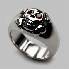You will never be lonely with this happy Smiling Skull ring! Handmade in our London workshops in solid sterling sliver. Our Lord and Master, Designer Einhorn, has been making this particular skull ring for over 10 years now. Add two round brilliant cut st