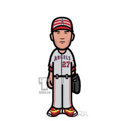 "Tykes on Instagram: ""Mike Trout ""MLB All-Star Game"" Tyke. #MikeTrout #LAAngels #Angels #NikeBaseball #tyke #tykes #MyTyke www.tykes.co"""