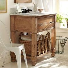 modern farmhouse bathroom vanity - Google Search