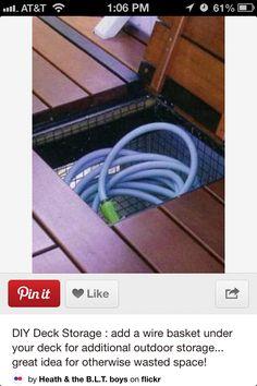 Hidden hose
