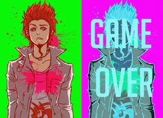 E…execution…. lol leon is a dork but he makes me cry a whole bunch here's a gif of this which looks a lot n. game over, leon kuwata Leon Kuwata, Danganronpa Trigger Happy Havoc, Rawr Xd, Danganronpa 3, Steven Universe, Games, Drawings, Manga Anime, Otaku