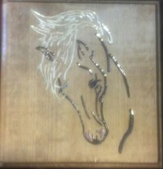 Wood Carved Sign - Horse Head - 1'x1' Oak Finish $15 plus shipping.