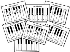 FREE download!!! Seven Keyboard Diagrams. Very useful!! :-) #musiceducation #musedchat