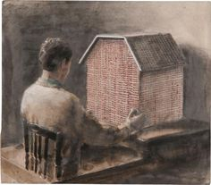 The House of Opportunity by Michael Borremans in Contemporary Art - Day Sale on May 2012 at the null null sale lot 209 Michael Borremans, Paintings I Love, Figure Painting, Contemporary Paintings, Art Day, Painting Inspiration, Graphic Illustration, Art History, Street Art