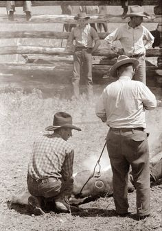 Old Picture of the Day: Cowboys