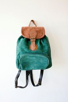 Vintage Grunge Revival Hunter Green Mini Backpack by sopasse, $35.00