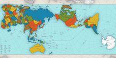 El extraordinario mapa que muestra al mundo como es realmente | Mapa creado por Hajime Narukawa