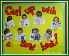 photo of: Curl Up With a Good Book Bulletin Board via RainbowsWithinReach RoundUP of Christmas Bulletin Boards Literacy Bulletin Boards, Christmas Bulletin Boards, Reading Bulletin Boards, Winter Bulletin Boards, Back To School Bulletin Boards, Reading Boards, Prek Literacy, Bullentin Boards, Reading Display
