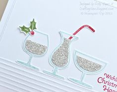 Stampin' Up ideas and supplies from Vicky at Crafting Clare's Paper Moments: A sparkly Happy Hour