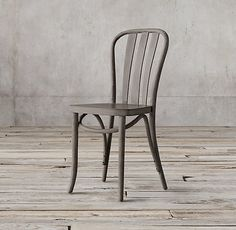Tabouret Vintage Wood Seat Bistro Chair By I Love Living